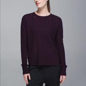 Lululemon Seva Merino Wool Sweater Black Cherry 6